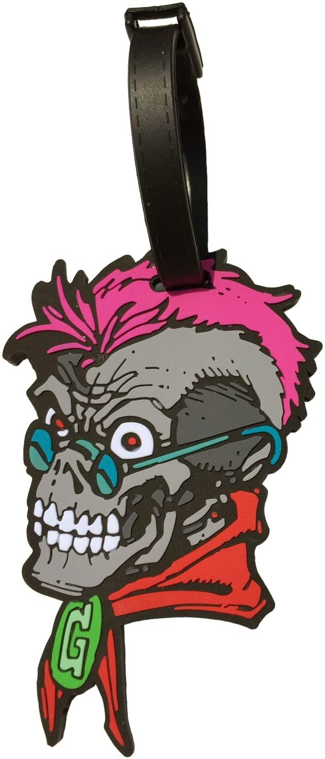 Goosebumps Curly Skull Luggage Tag
