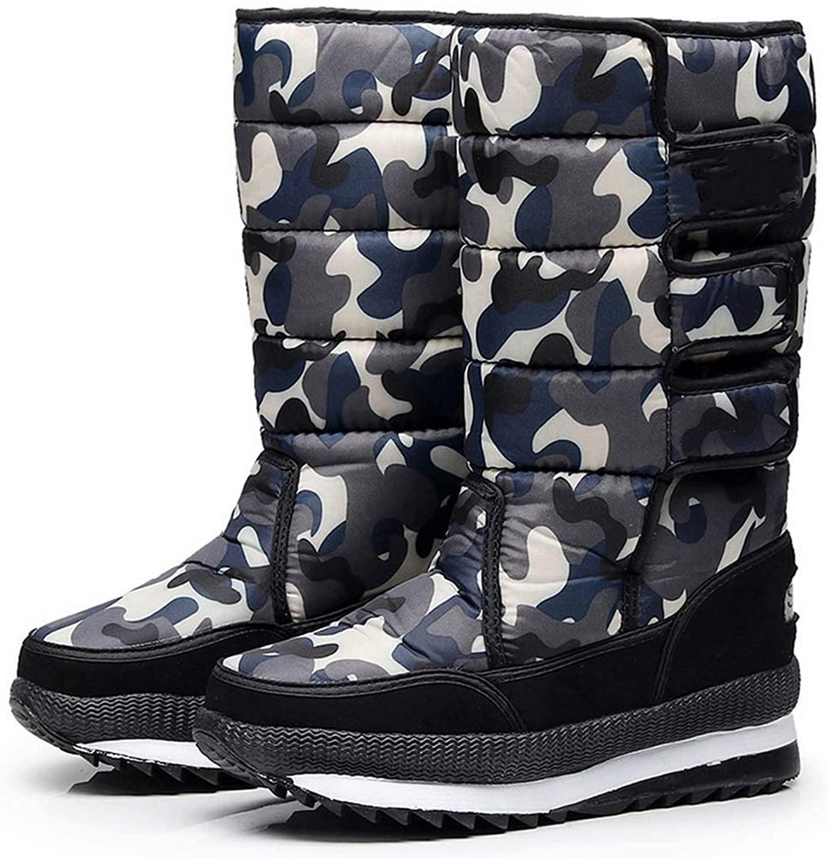 Men Boots Platform Snow Boots for Men Thick Plush Waterproof Slip Resistant Male Winter Shoes Plus Size 34 47