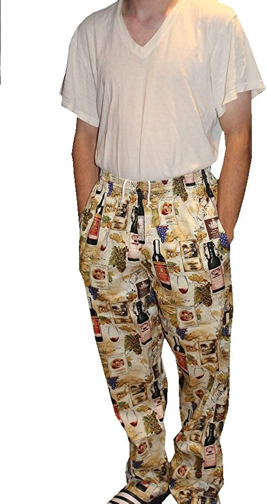 Mens Traditional 100% Cotton Baggy Chef Pant
