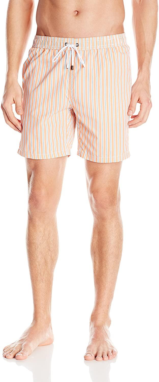 Mr. Swim Men's Narrow Stripe Swim Trunk