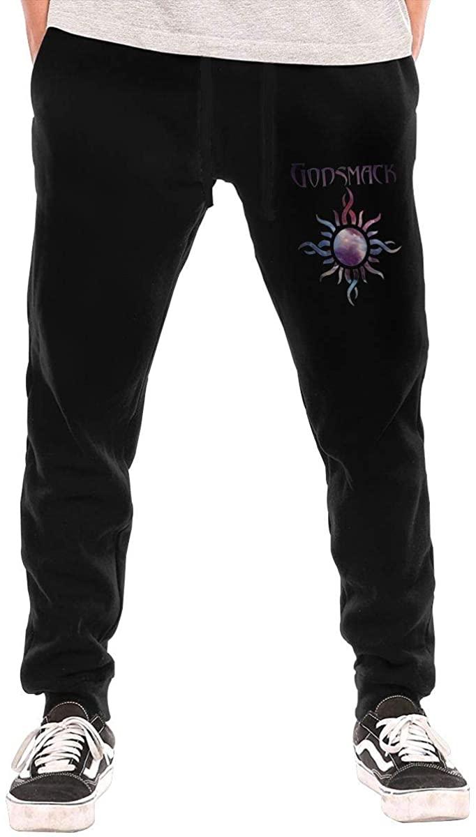Men's Trousers Sweatpants Godsmack Logo Original Simple Style Black