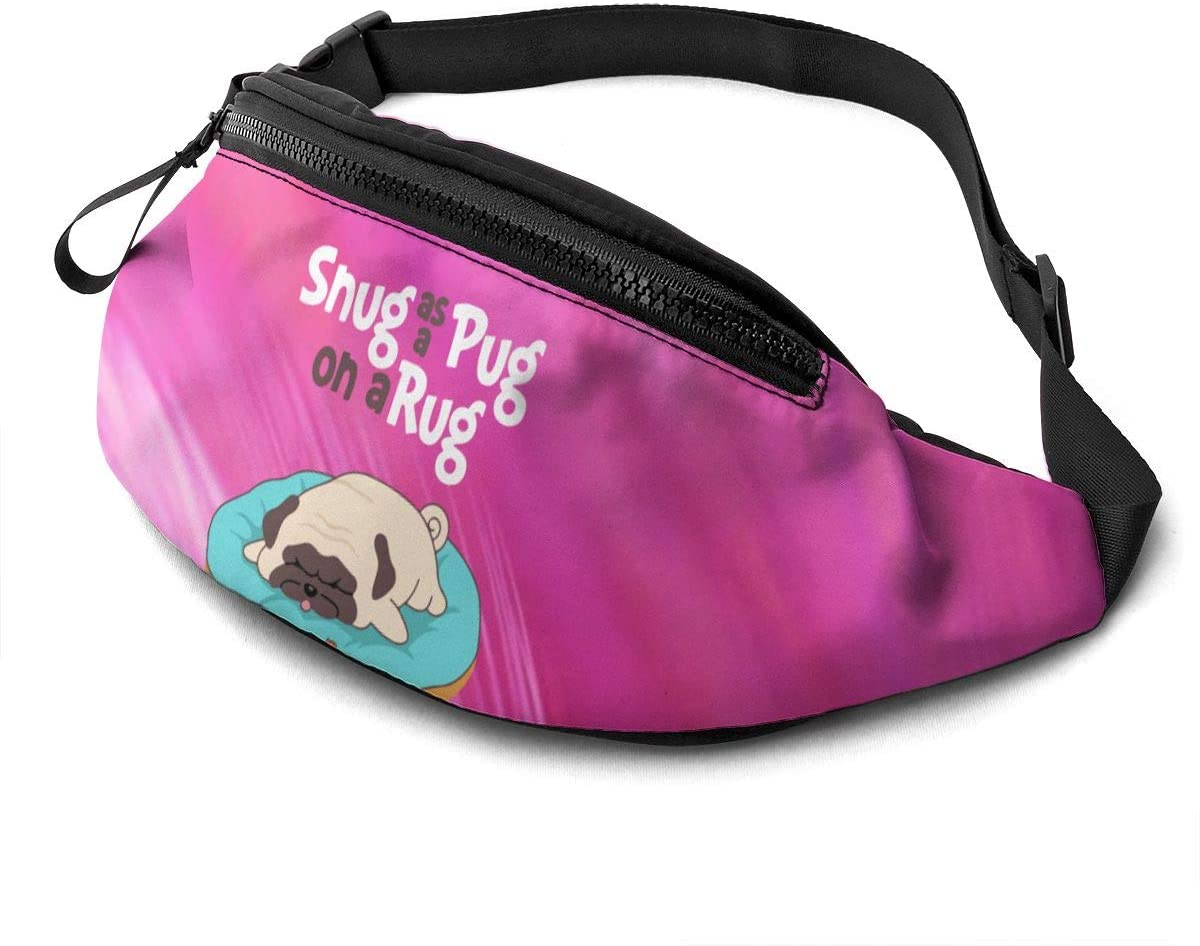 Little Yellow Duck And Pug Dog Fashion Casual Waist Bag Fanny Pack Travel Bum Bags Running Pocket For Men Women