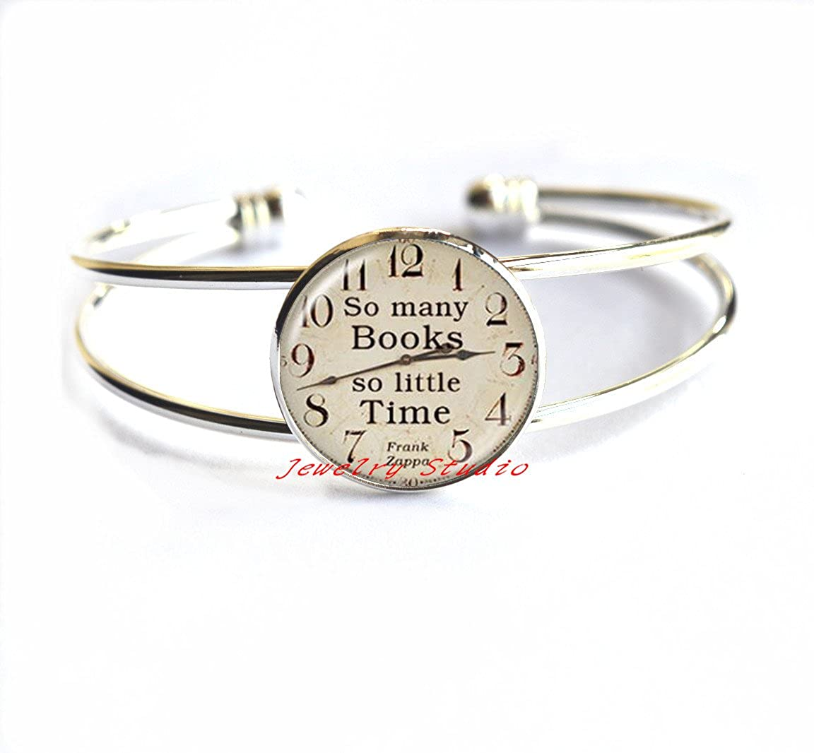Charming Bracelet,So Many Books, So Little Time Bracelets, book Bracelet book jewelry book quote book club book gift,T0039