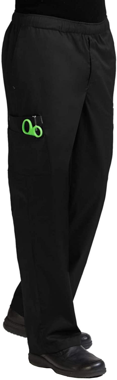 Med Couture Men's 'MC2' Cargo Pocket Scrub Pant, Black, X-Large Tall