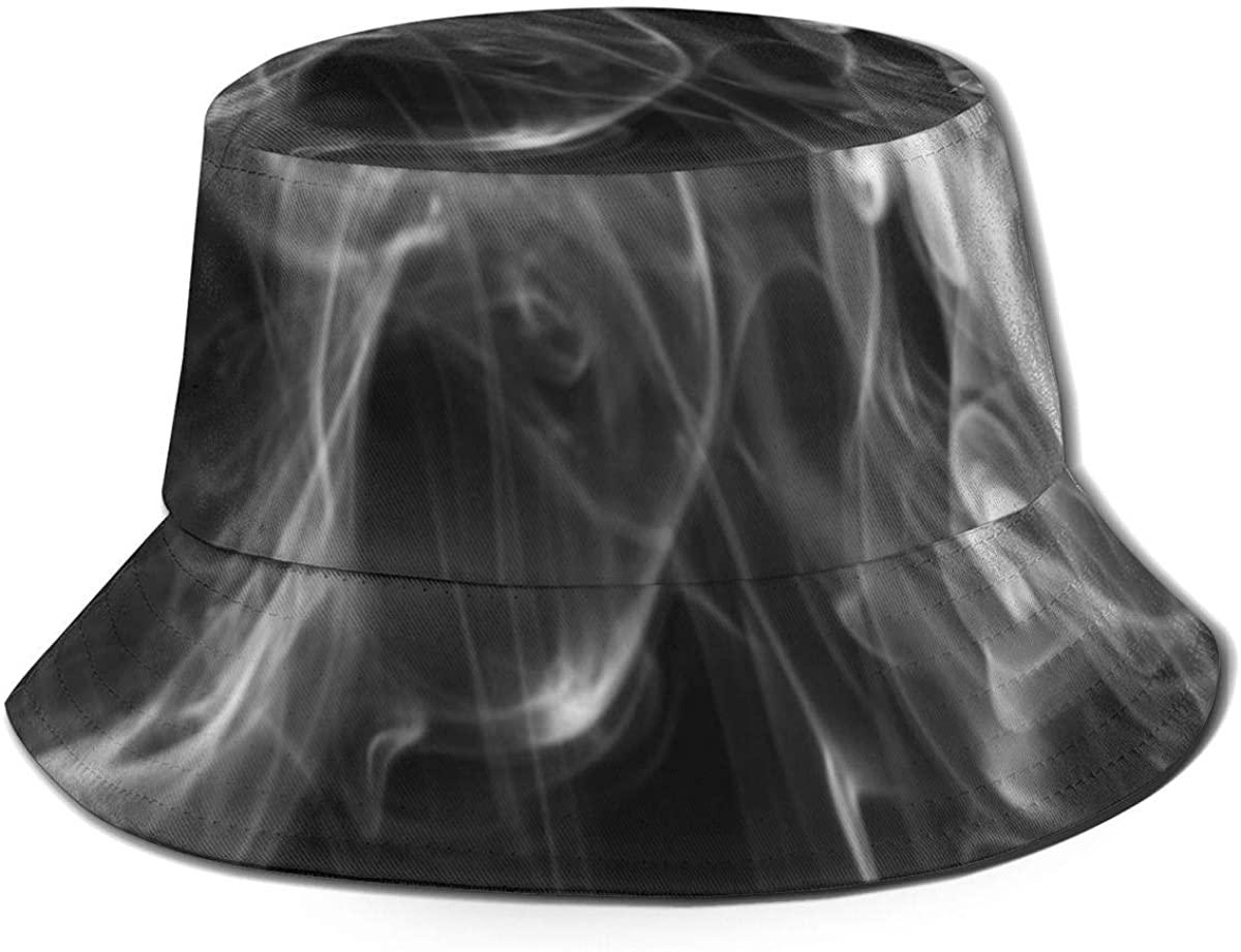 Bucket Hats for Teens Marvellous White Smoke Beach Bucket Hat, Uv Bucket Hat, Foldable Sun Bucket Hat, Fisherman Hat