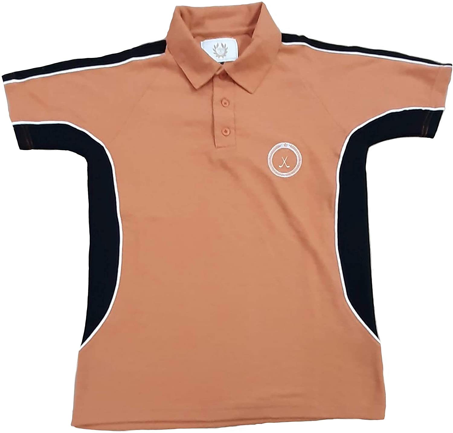 TEEPOLO Golf Shirt for Men - Regular Fit with Contrast Side and Sleeve Panels and Golf Clubs Embroidery Logo