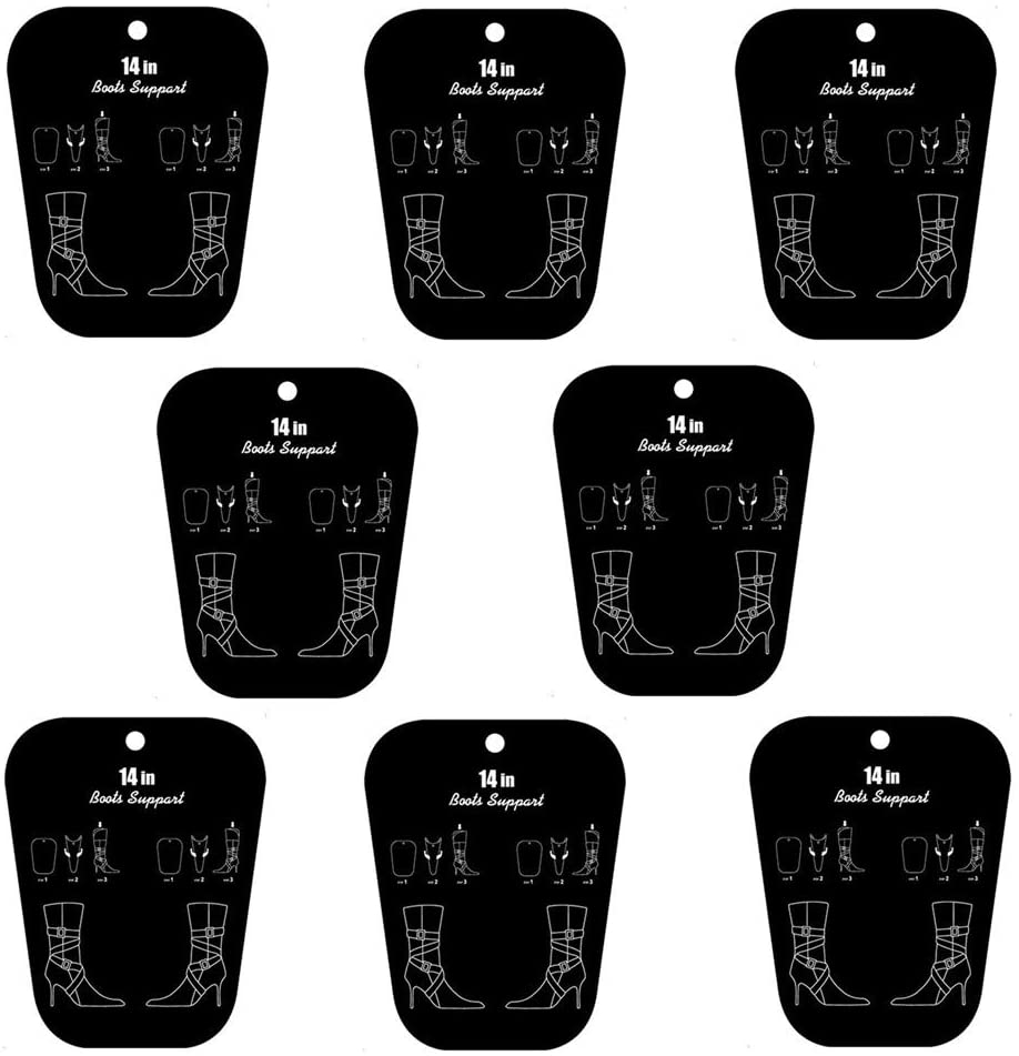 Comsnows 8PCS Boot Shaper Form Inserts, Tall Boots Support Shapers for Women and Men, 14 inches, 4 Pairs(Black