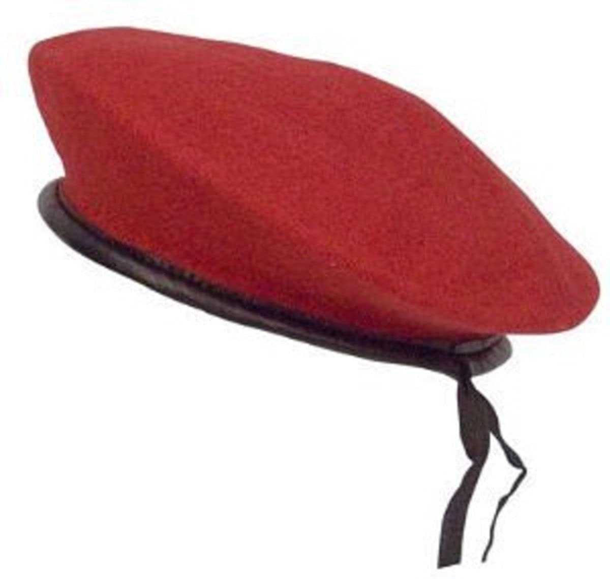 Military Wool Monty Beret Red