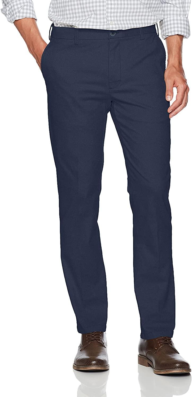 IZOD Men's Saltwater Stretch Flat Front Slim Fit Chino Pant