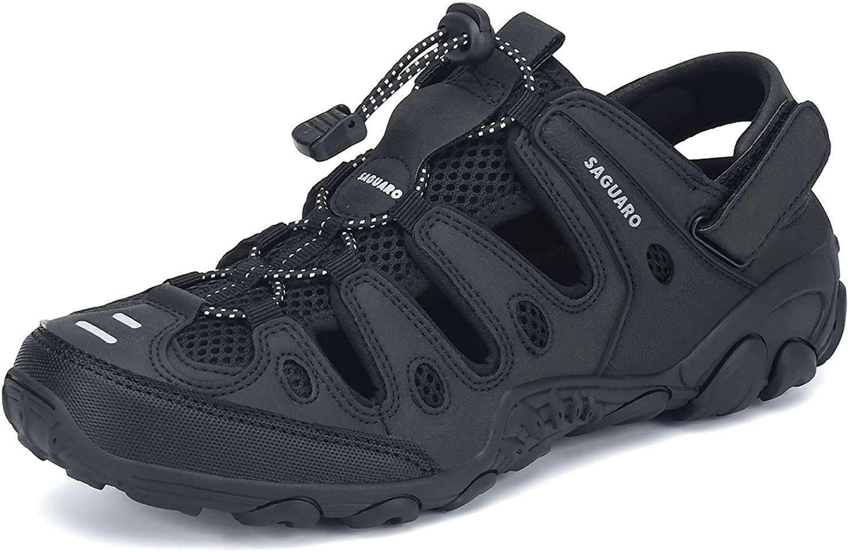 SAGUARO Mens Womens Athletic Hiking Sandal Closed Toe Outdoor Walking Water Shoes