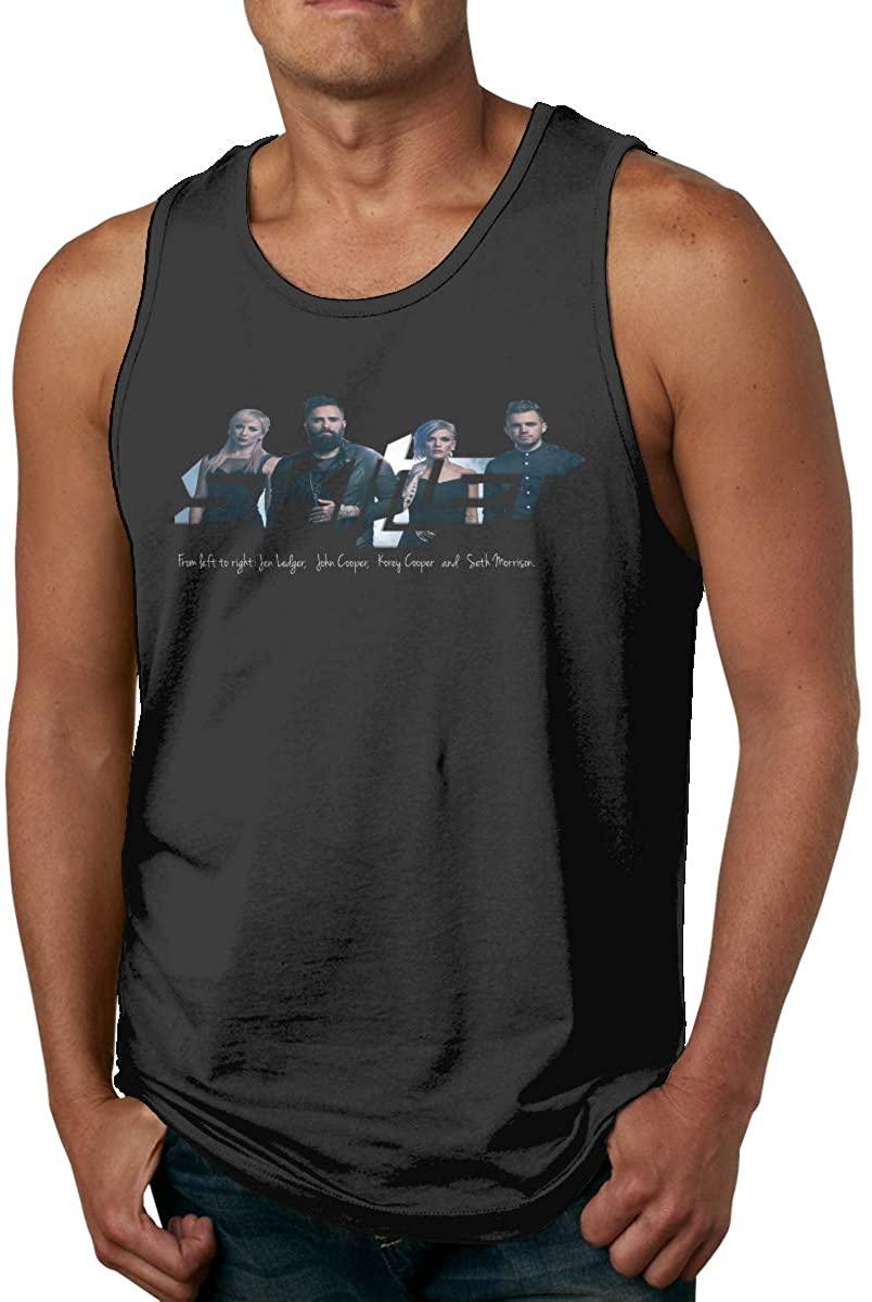 ZiAntg Skillet Mens Tank Tops Summer Sleeveless Vest Shirts Black