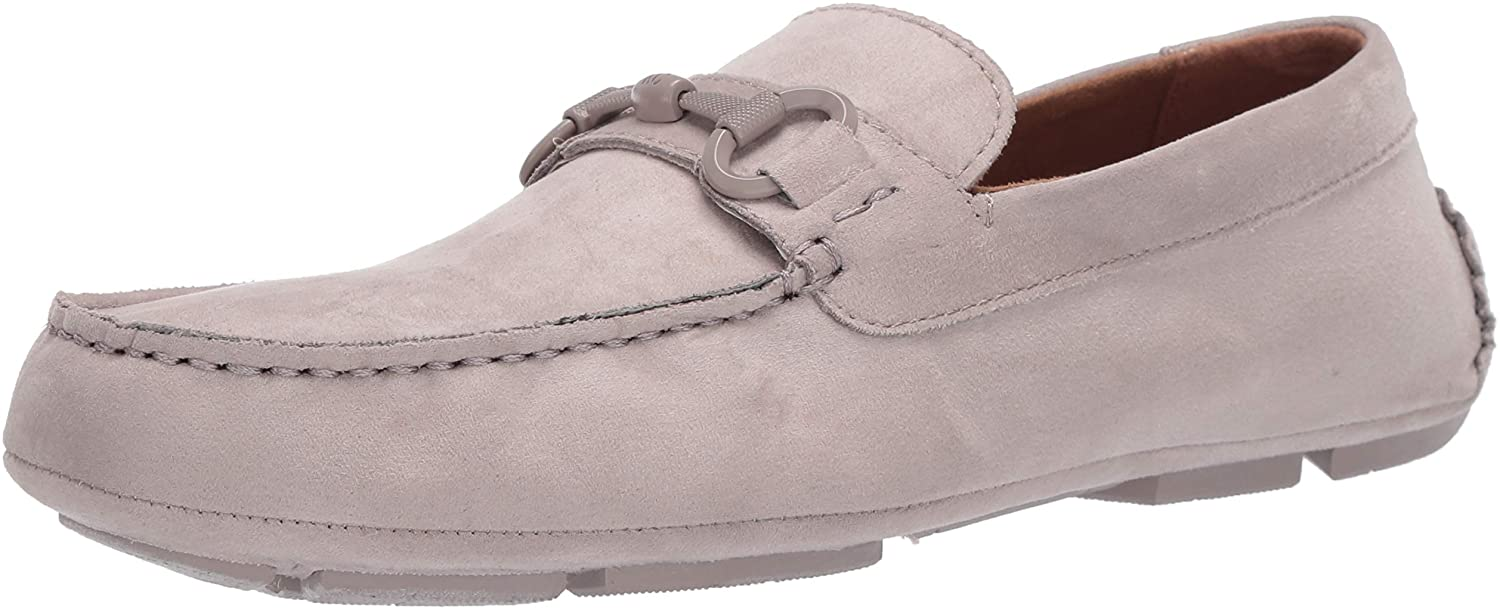Kenneth Cole Reaction Men's Dawson Bit Driver Driving Style Loafer, Light Grey, 7.5 M US
