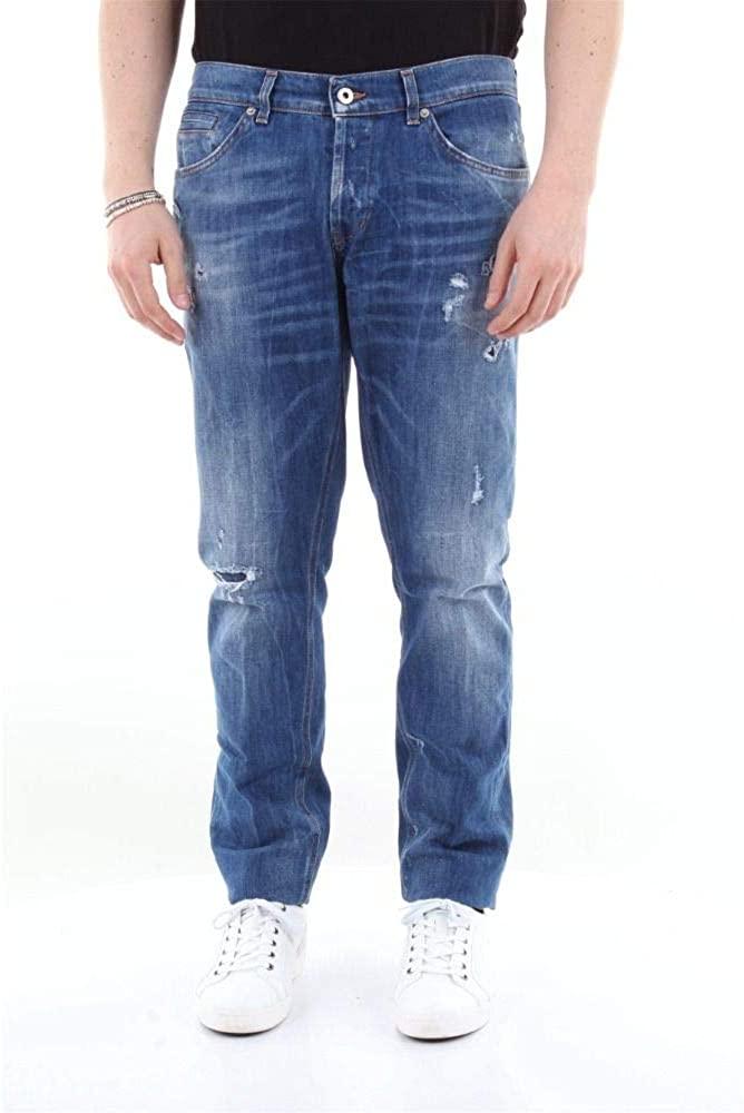 Dondup Luxury Fashion Man UP232DS0107UW37BLUE Blue Cotton Jeans   Season Outlet