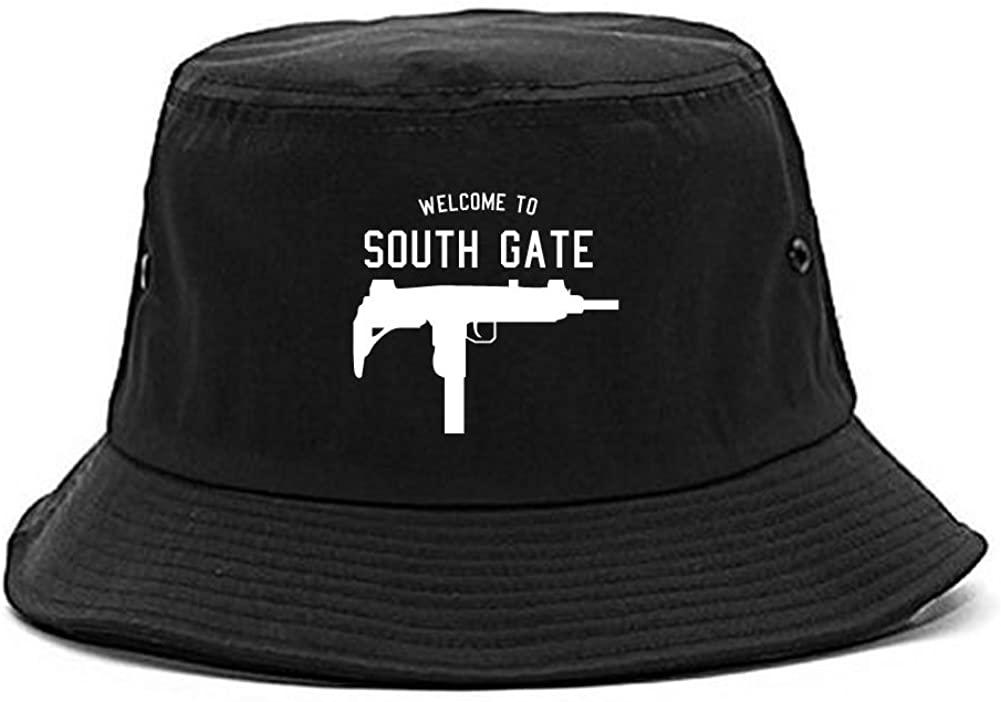 Kings Of NY Welcome to South Gate Uzi Machine Gun California Bucket Hat