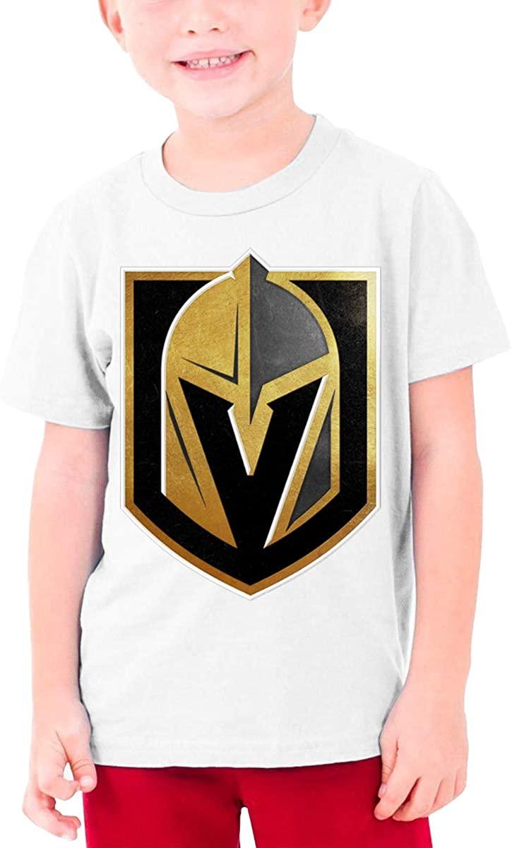Boys and Girls Teens Short Sleeve T-Shirt Vegas Born Golden Knights Generous Eye-Catching Style White