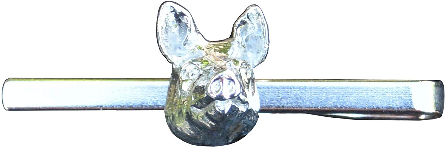 Pig Tie Clip, Pig, Piggy Tie Clip, Tie Clip, Tie Bar, Pig Gifts, Pig Accessories, Handcast, in Fine Pewter, by William Sturt