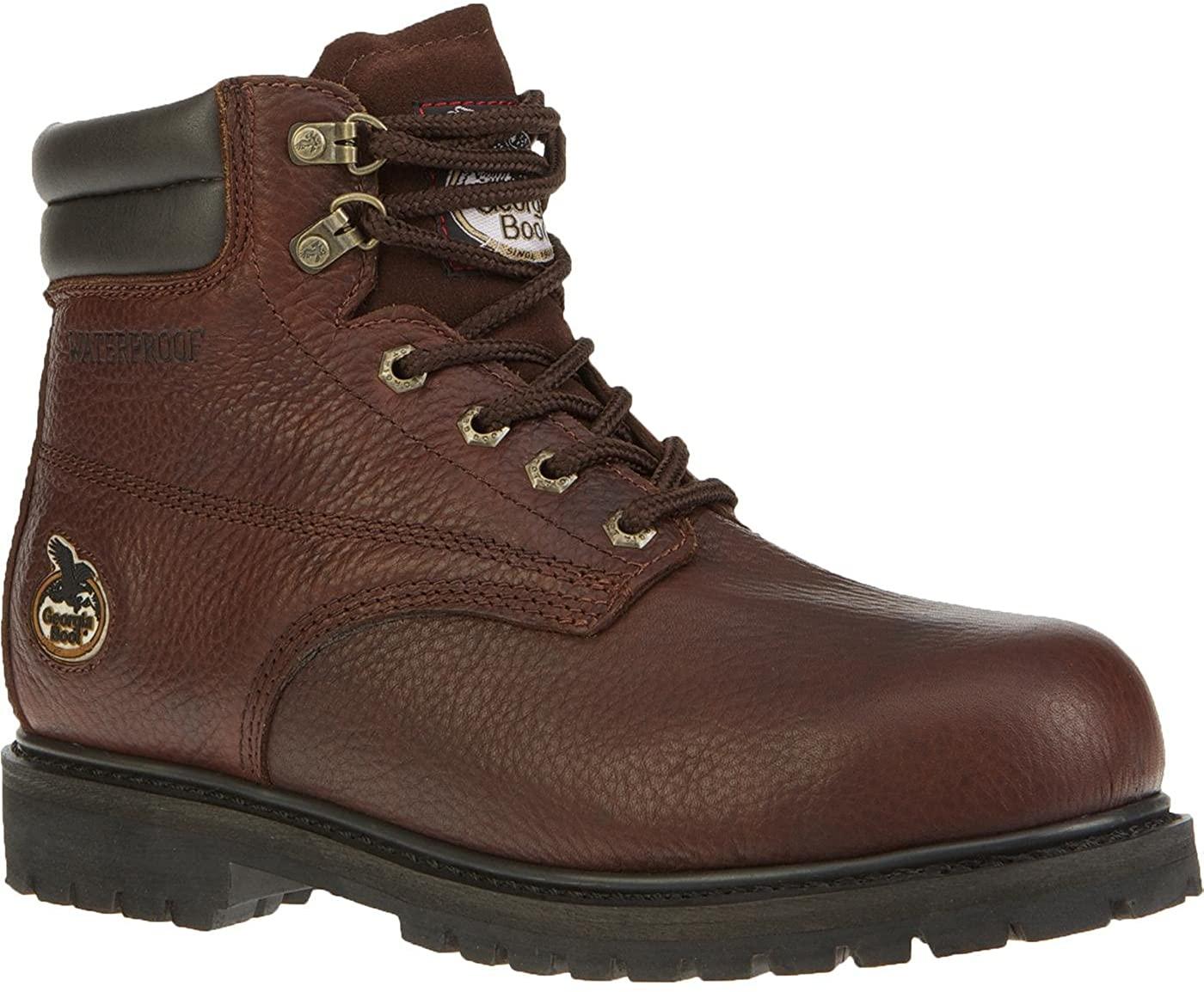 Georgia Men's 6 Inches Oiler Steel Toe Waterproof Work Shoe-G6174