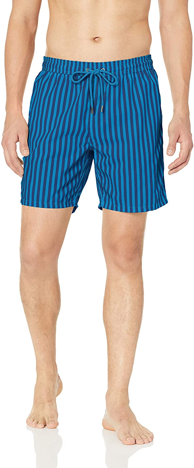 Mr. Swim Men's Cabana Stripe, Navy/Royal, L