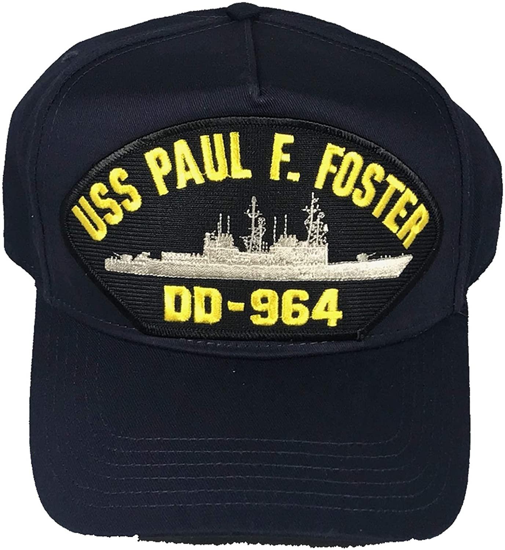 EC USS Paul F. Foster DD-964 Ship HAT - Navy Blue - Veteran Owned Business