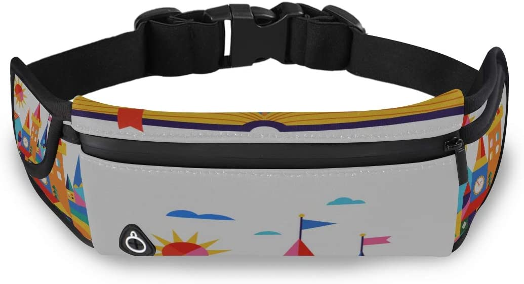 Fantasy Unsual Magical Dream Castle Sport Waist Bag Boys Fanny Pack Fashion Man Bag With Adjustable Strap For Workout Traveling Running