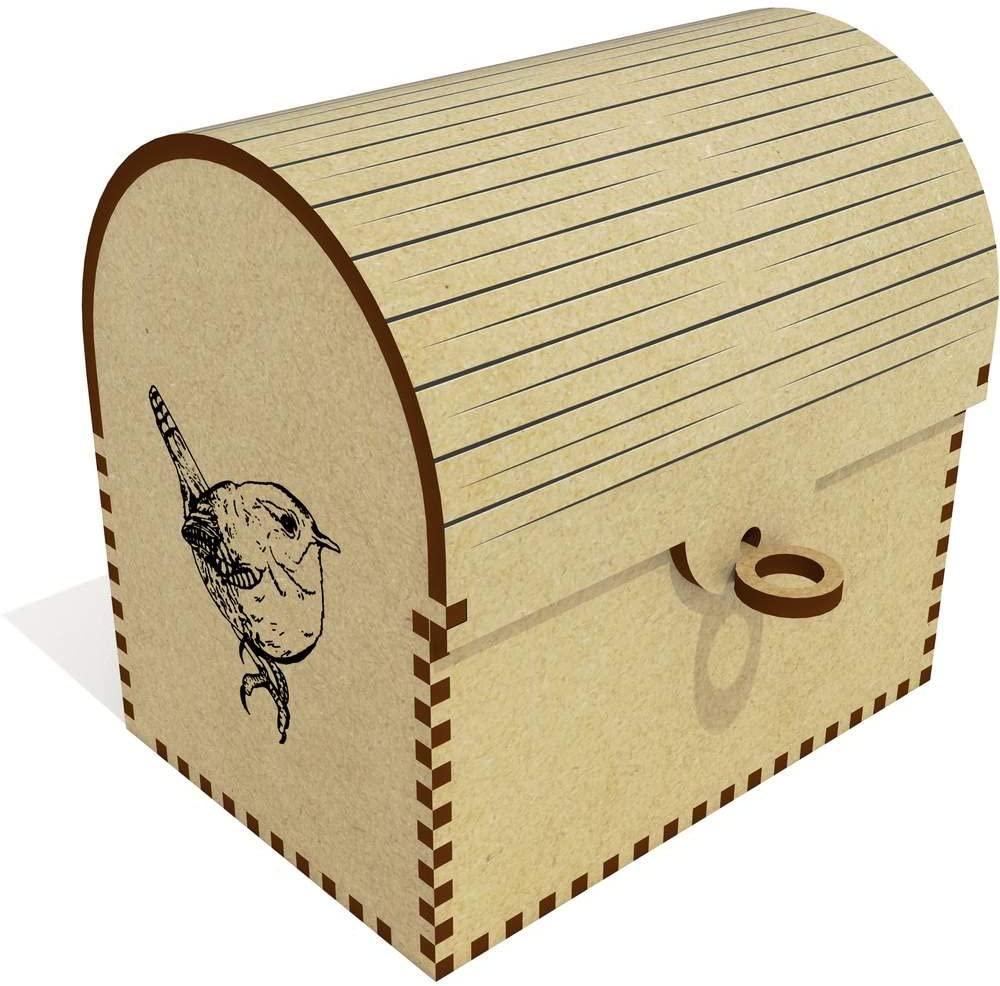 Azeeda 'Wren Bird' Treasure Chest / Jewellery Box (TC00030118)
