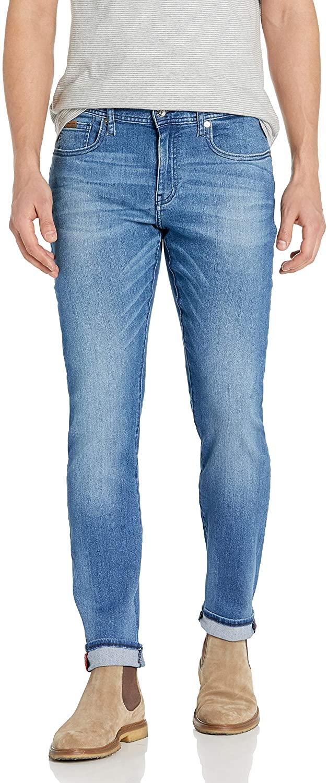 AX Armani Exchange Men's Medium Light Wash Slim Fit Denim Jeans