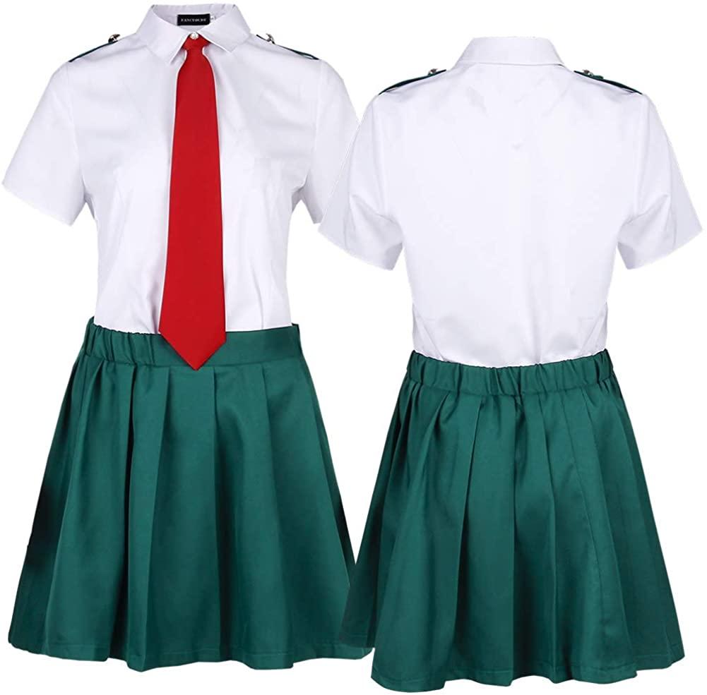 BUBABOX My Hero Academia School Uniform Dress Classic Japanese Sailor Dress Shirts