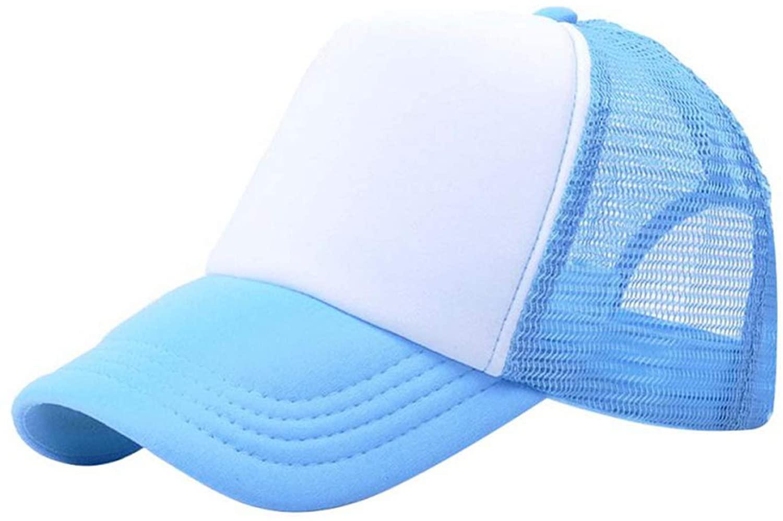 Vogue Adjustable Baseball Cap Trucker Hat Blank Curved Hat Mesh Plain Color Cap