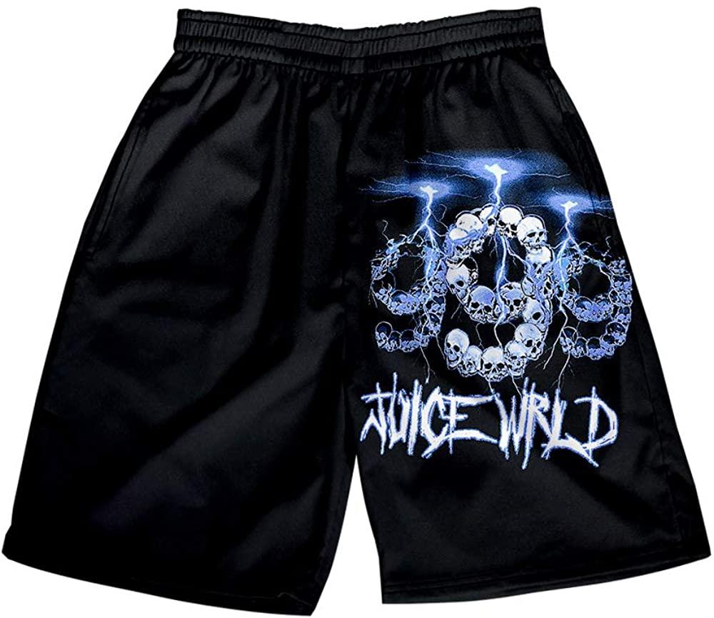 Juice Wrld Shorts Mens Beach Trunks Swimsuit Boardshorts Breathable Hip Hop