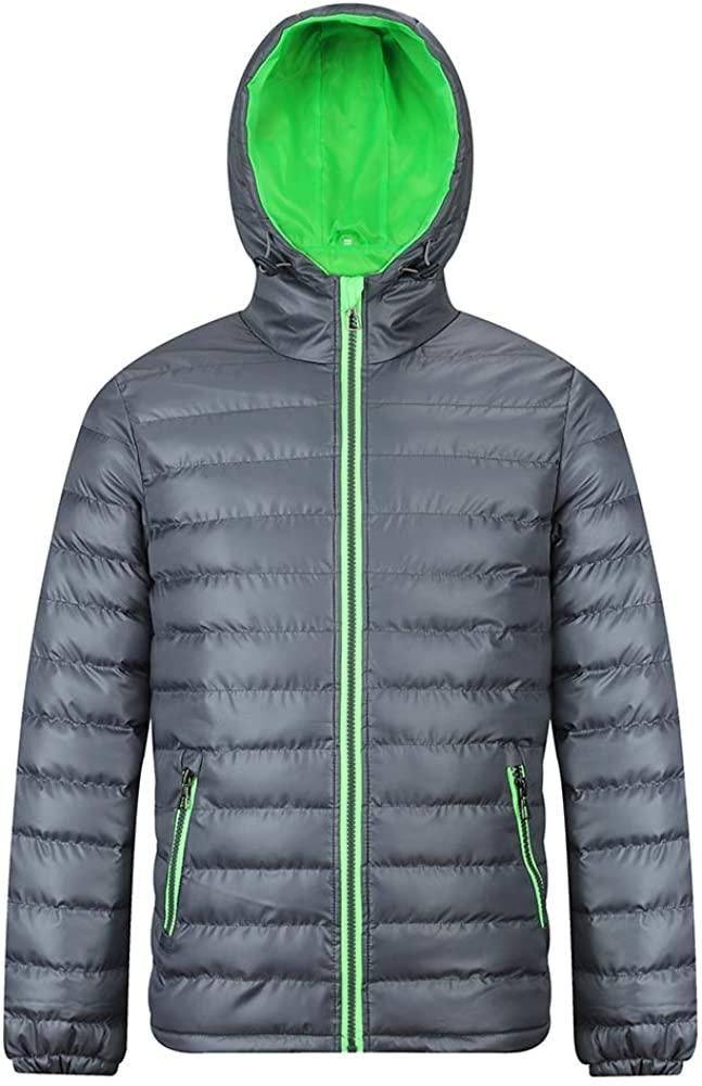 FAFNIR Mens Hooded Puffer Jacket Winter Insulated Outerwear Coat