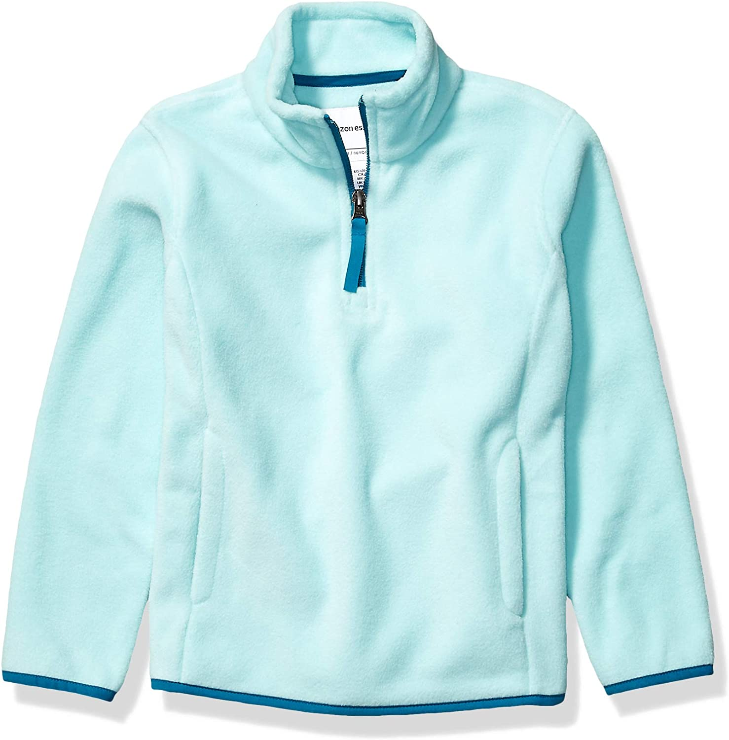 DHgate Essentials Girl's Quarter-Zip Polar Fleece Jacket