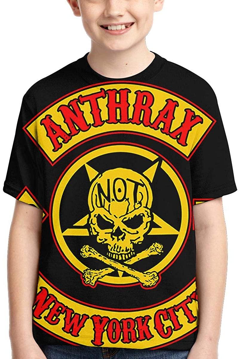 Anthrax New York City Fashion Boys Girls 3D Printed Top Tee Shirts