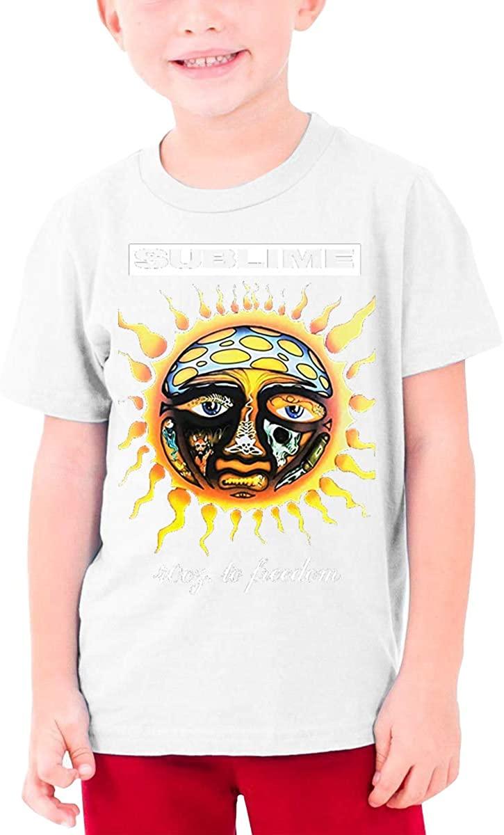 Boys and Girls Teens Short Sleeve T-Shirt Sublime 40 Oz Unique Retro Design White