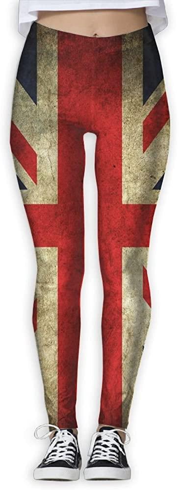 ZZATAA England Flag Elastic Waist Pencil Yoga Pants Yoga Leggings.