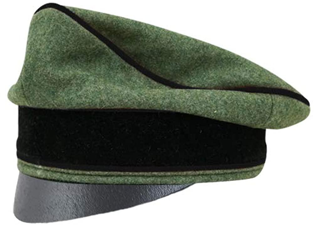 WW2 German Waffen Elite Wool Pioneer Crusher Cap Small Visor
