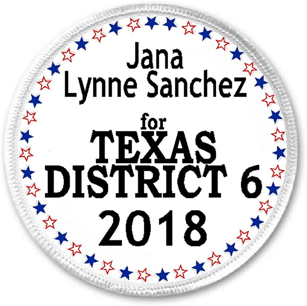 Jana Lynne Sanchez for Texas District 6 2018-3 Sew/Iron On Patch Election