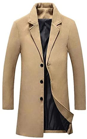 Nomber 5 Colors Coat Woollen Overcoat Winter Autumn Men Coat Fashion Lined Warm Woolen Overcoat Male 5XL