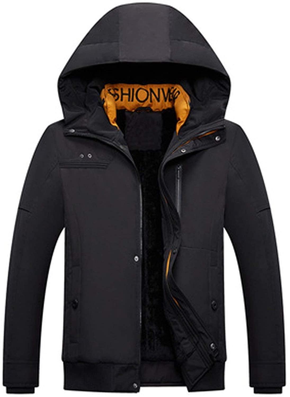 Winter Mens Jacket Casual Men Thick Fleece Warm Hooded Parkas Windbreaker Jackets