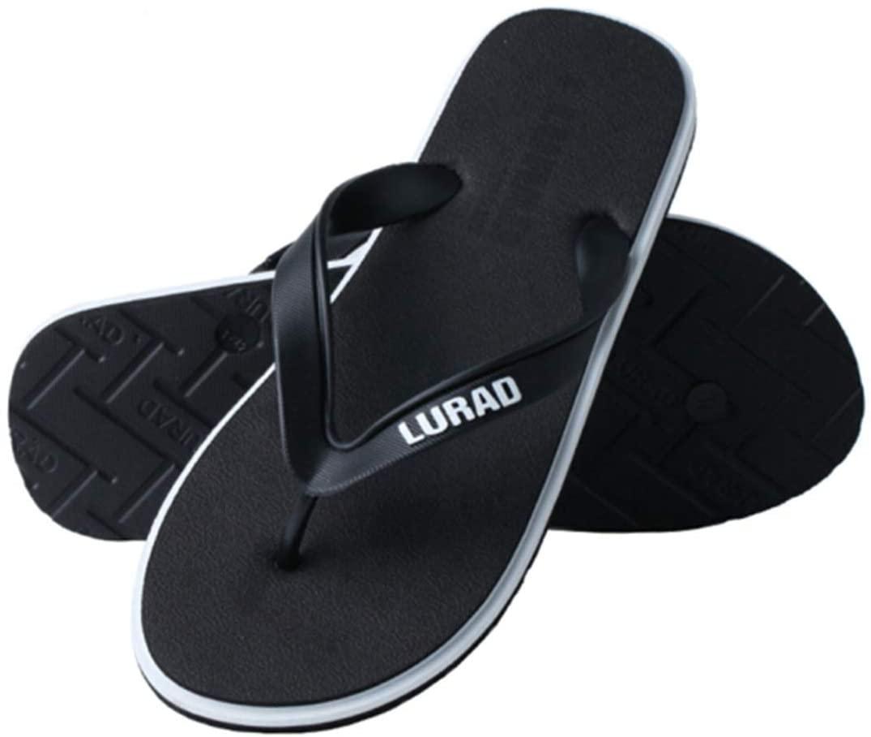RuiXia Flip-Flops Flip Flops Men's Summer Slippers Beach Pinch Sandals Slippery Clip Drag Army Green Blue Gray Black