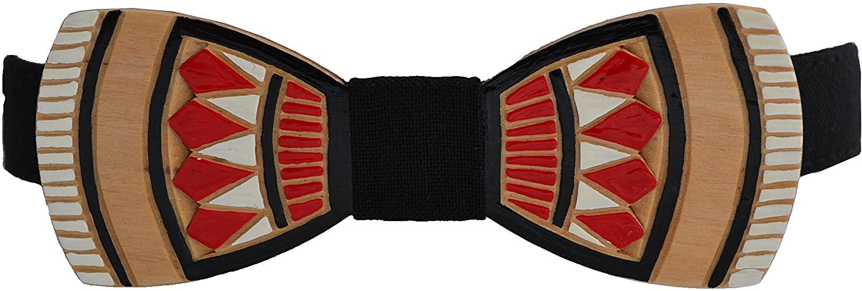 Wooden Bow Tie for Men - Authentic - Sculptured - Unisex - black