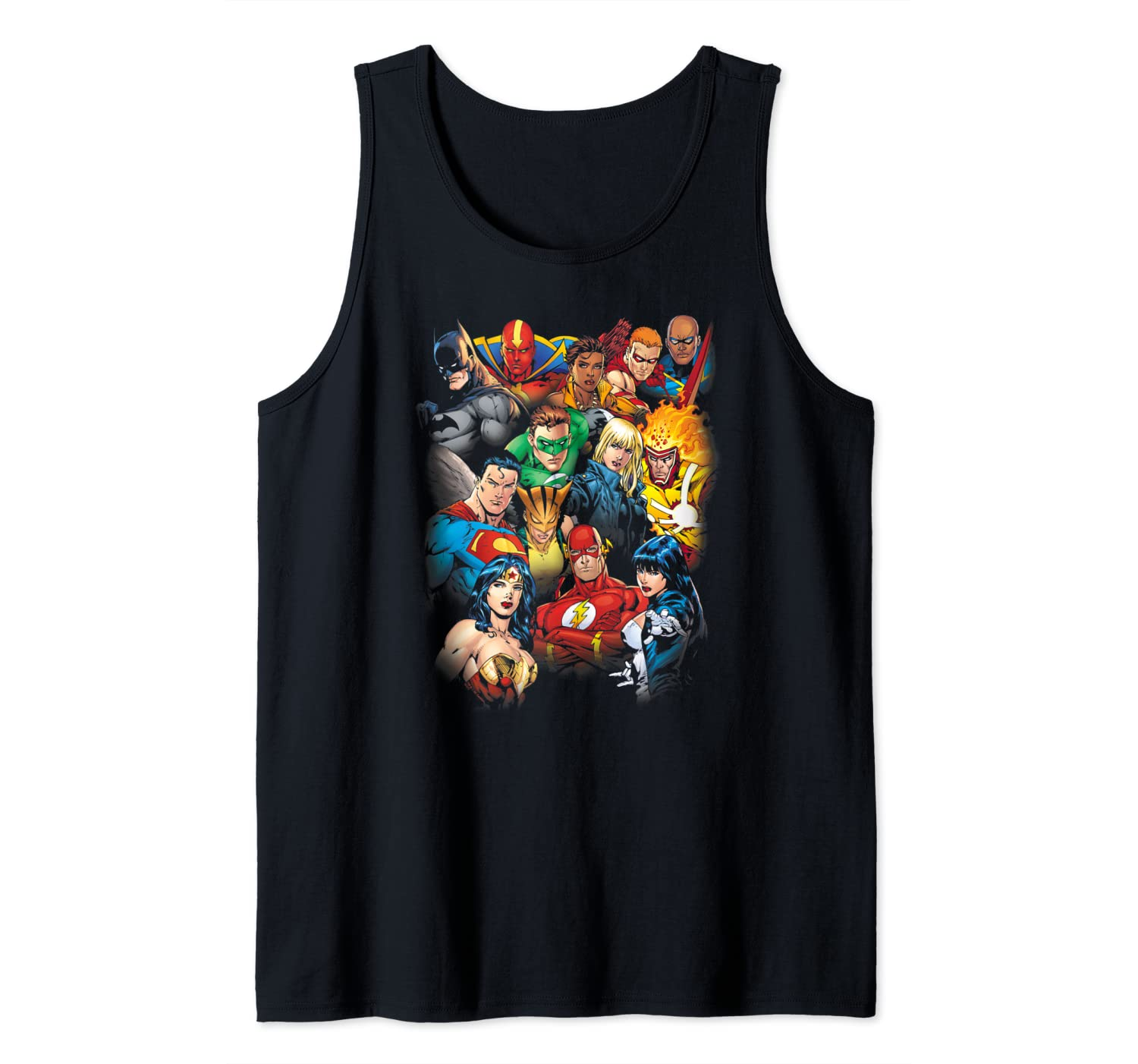 Justice League The Leagues All Here Tank Top