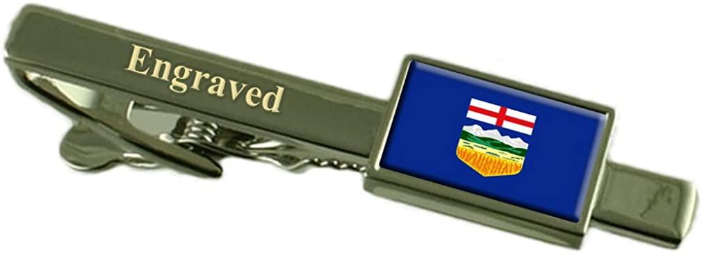 Alberta Flag Engraved Personalised Tie Clip