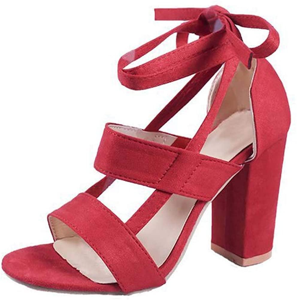 Women's Chunky Heel High-Heeled Plus Size Sandals