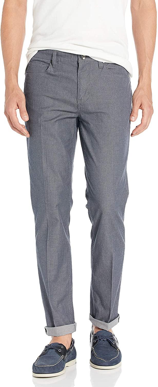 Perry Ellis Mens Slim Fit Stretch Chevron Pants