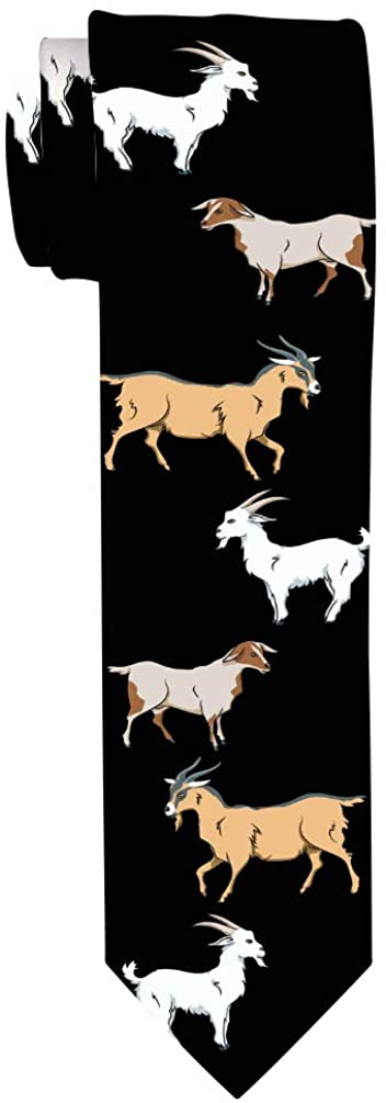 Goat Novelty Gifts for Adults Mens Goat Tie Goat Lover Gifts Goat Related Gifts Pet Goat Necktie
