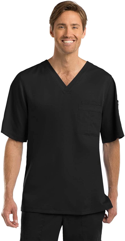 Grey's Anatomy Signature Signature Men's Scrubs, Black, X Large