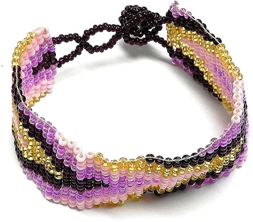 Mia Jewel Shop Thick Seed Bead Fashion Strap Bracelet