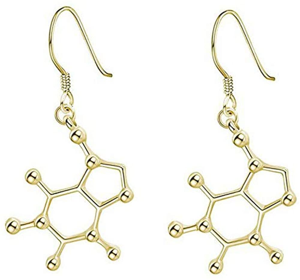 Frodete Simple Chemical Formula DNA Series Earring Molecular Dangle Earring Women Girls Jewelry Gift Fashion Brincos