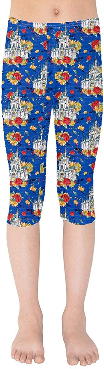 Youth Capri Leggings - Happiest Place On Earth Disney Inspired Blue