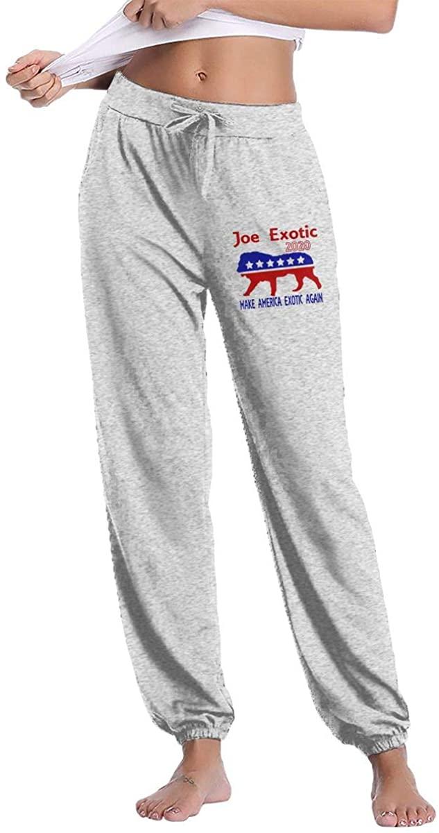 Joe Exotic for President 2020 Women's Athletic Joggers Pants Sweatpants Pants Gray